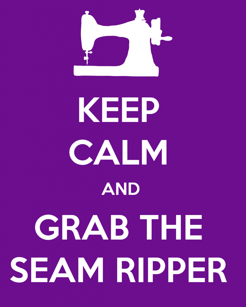 Keep Calm and Grab the Seam Ripper Printable