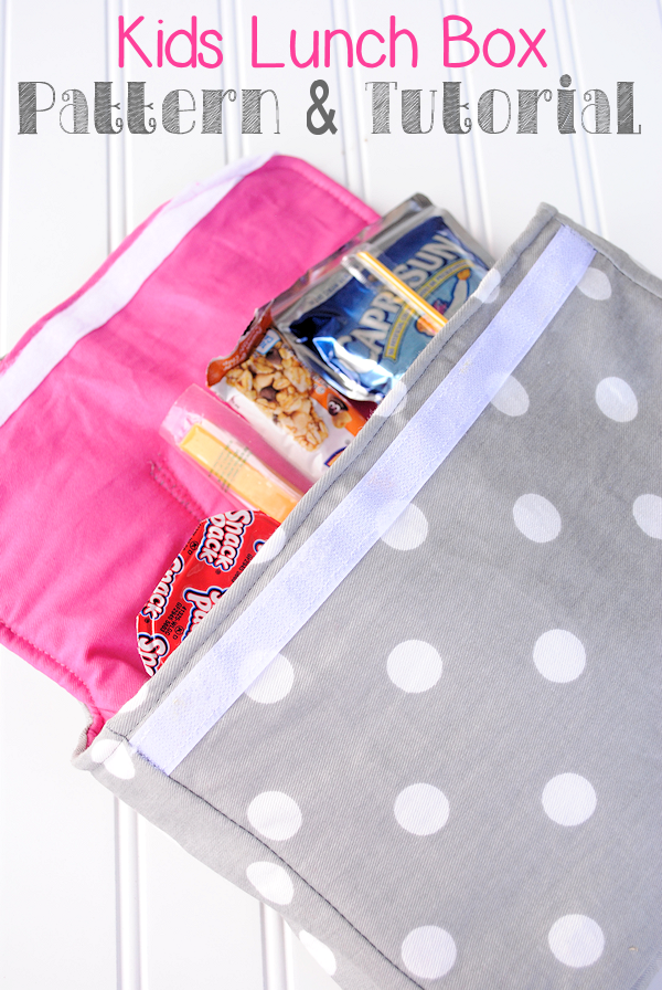 Kid's Lunch Box Pattern and Tutorial by Crazy Little Projects