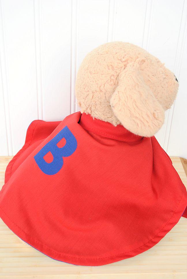 Stuffed Animal Superhero Cape Pattern