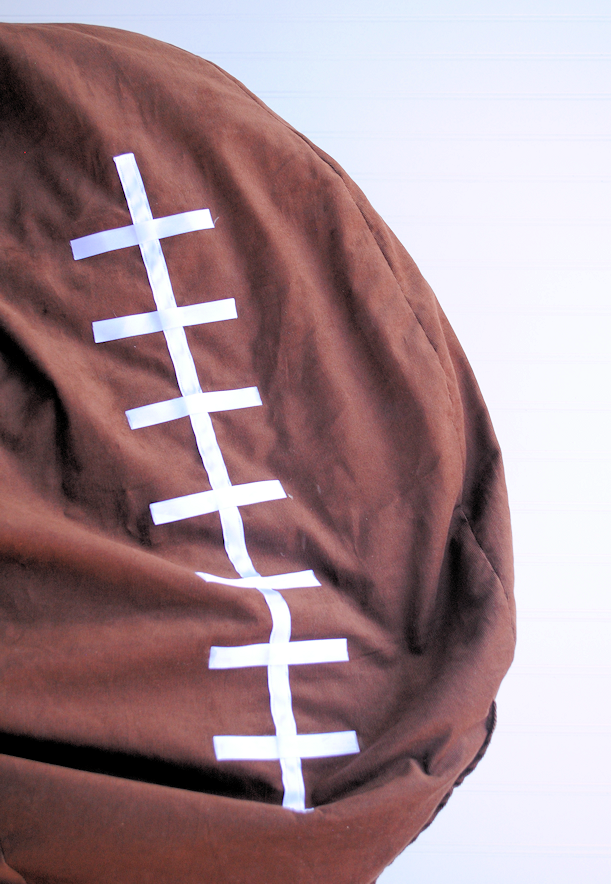 Football Bean Bag Chair Tutorial by Crazy Little Projects