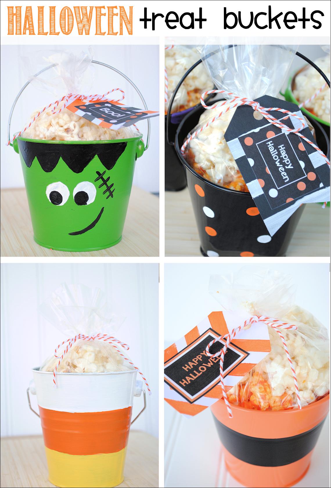 Halloween treat buckets printable halloween gift tags halloween treat buckets free printable halloween gift tags negle Gallery