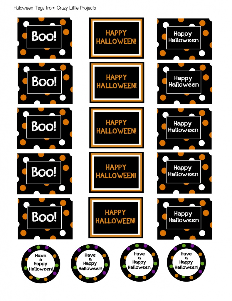 picture about Free Printable Halloween Tags named Halloween Take care of Buckets Printable Halloween Reward Tags