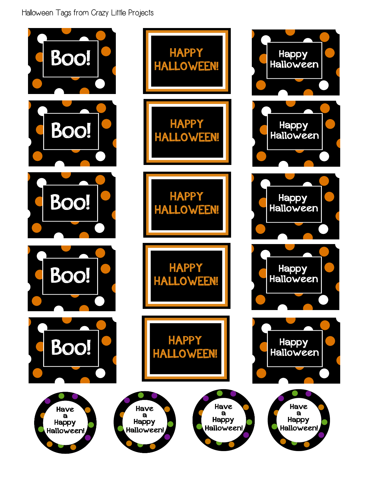graphic about Printable Halloween Gift Tags named No cost Halloween Printable Present Tags - Nuts Tiny Assignments