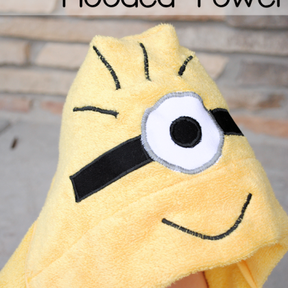 Minion Hooded Towel Pattern for Kids