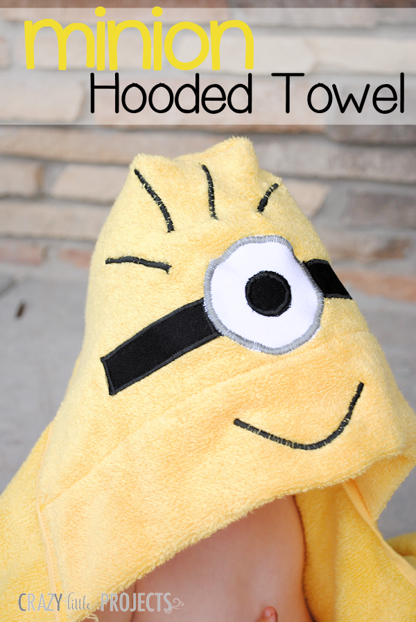 Minion Hooded Towel Pattern for Kids - Crazy Little Projects