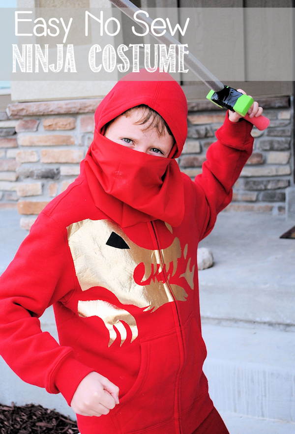 Easy No Sew Ninjago Costume by Crazy Little Projects
