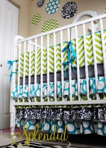 Ruffled Crib Skirt Baby Bedding 1