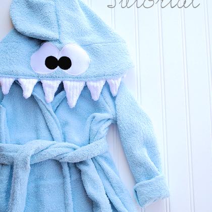 Shark Baby Robe Tutorial