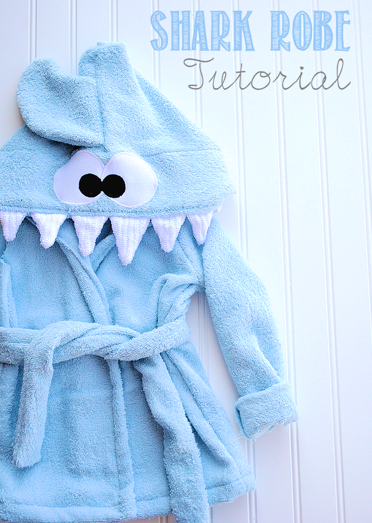 Shark Baby Robe Tutorial