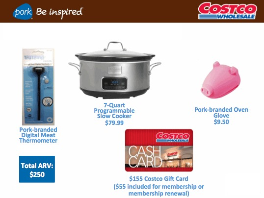 Enter to win $100 to Costco, a Slow Cooker and More!