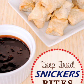 Deep Fried Snickers Bites