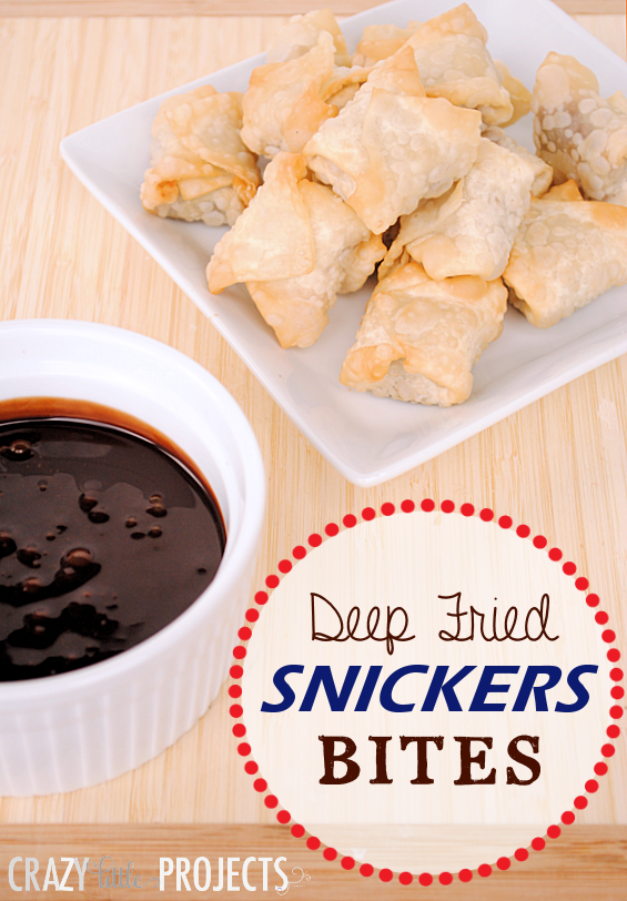 Deep Fried Snickers Bites Recipe by Crazy Little Projects #dessert #shop