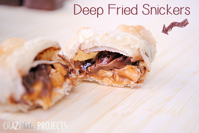 Deep Fried (Hot and Gooey) Snickers Bites #yum #chocolate #shop