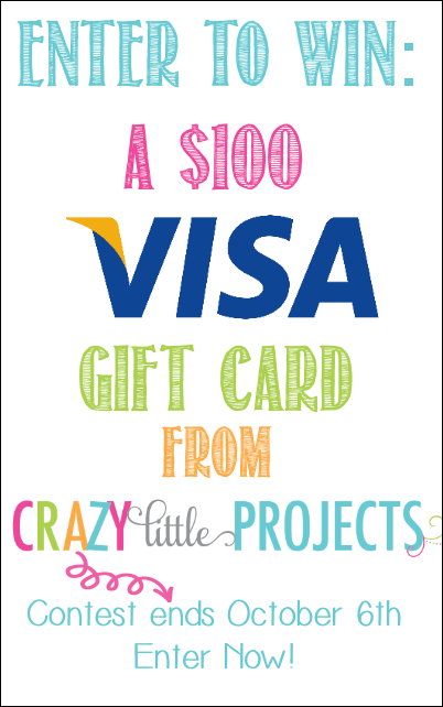 Enter to Win $100 VISA Gift Card from Crazy Little Projects