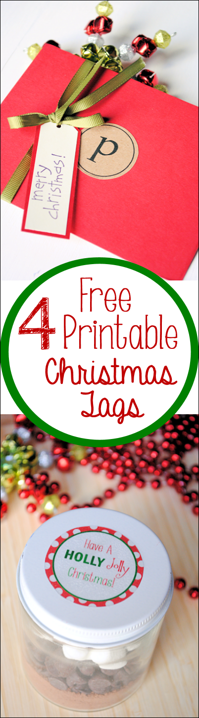 4 Free Printable Christmas Tags from Crazy Little Projects