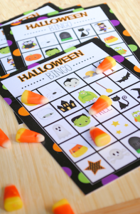 Free Printable Halloween Bingo Game-Perfect for Kids Halloween parties!