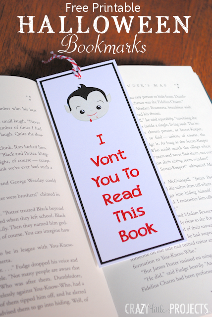 Free Printable Halloween Bookmarks for Kids: 4 designs to choose from!