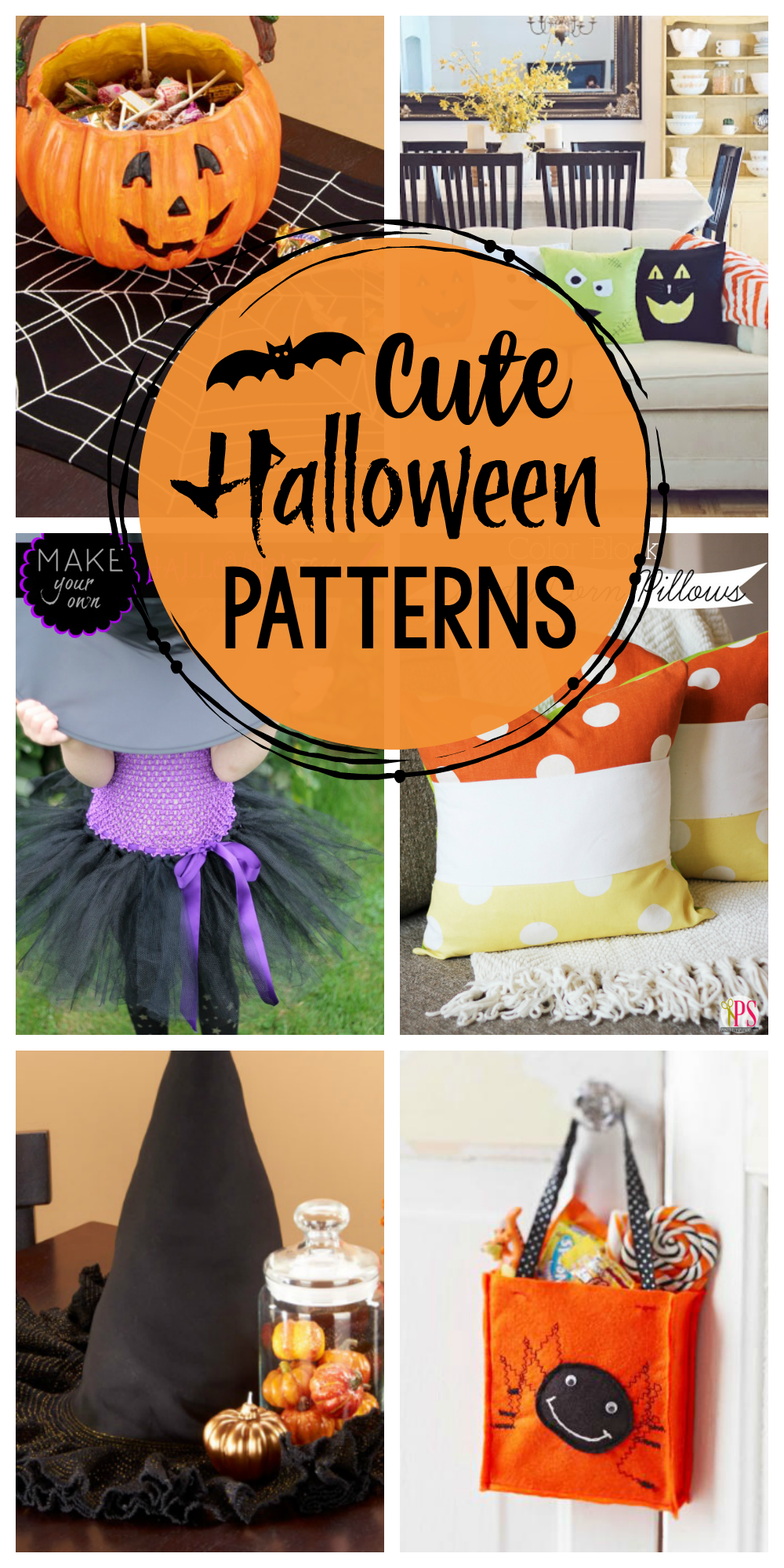 Halloween Patterns to Sew this year-So many cute Halloween patterns for Halloween decor, aprons, decor, costumes and more! #Halloween #sew #sewing #pattern