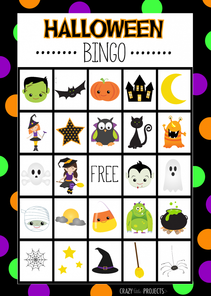 Insane image within halloween bingo free printable