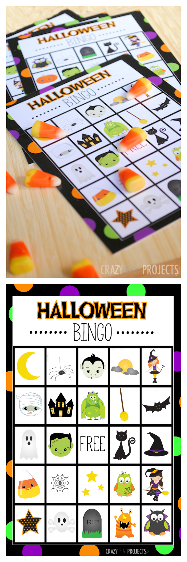 free printable halloween bingo game set perfect for kids parties and school parties - Preschool Halloween Bingo