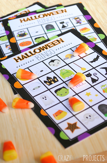 Halloween Bingo Game Boards