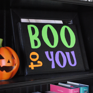 Painted Halloween Signs