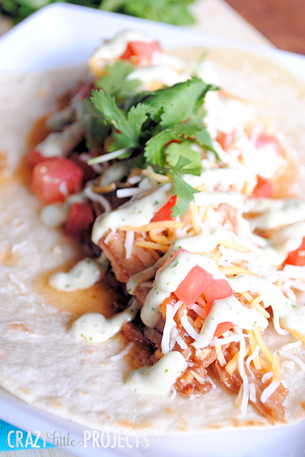 Sweet Pork Tacos Recipe by Crazy Little Projects