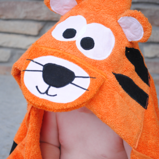 Tiger Hooded Towel Tutorial