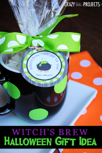 Witch's Brew Halloween Gift Idea with Free Printable Gift Tag #Halloween