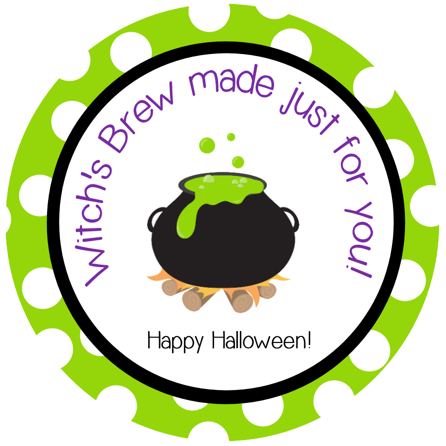Witch's Brew Free Printable Tag
