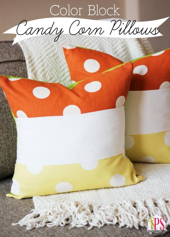 Candy Corn Pillows