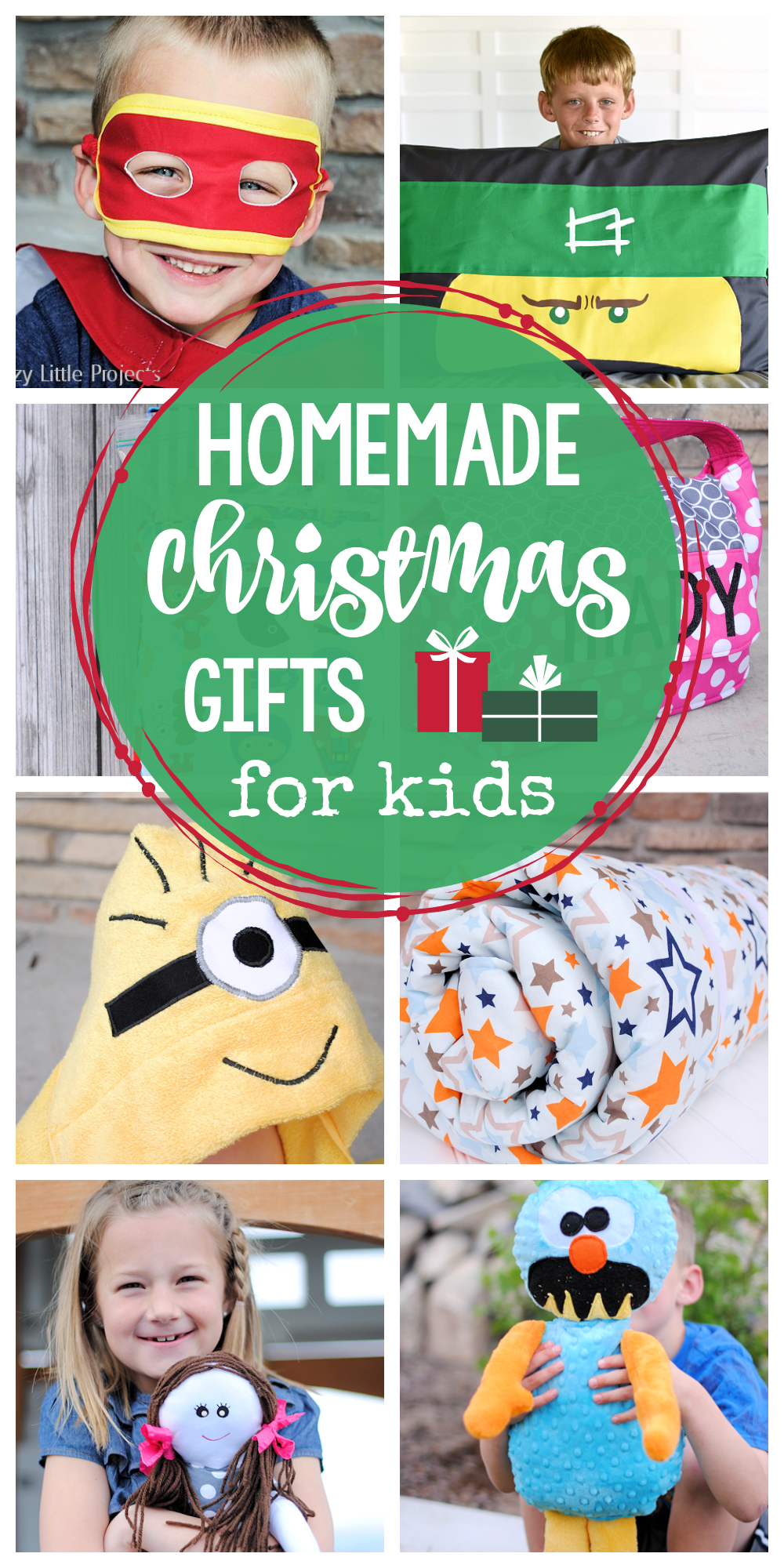 25 Cute Homemade Christmas Gifts for Kids-Fun ideas of things to make for the kids this year. #Christmas #gifts #christmasgifts