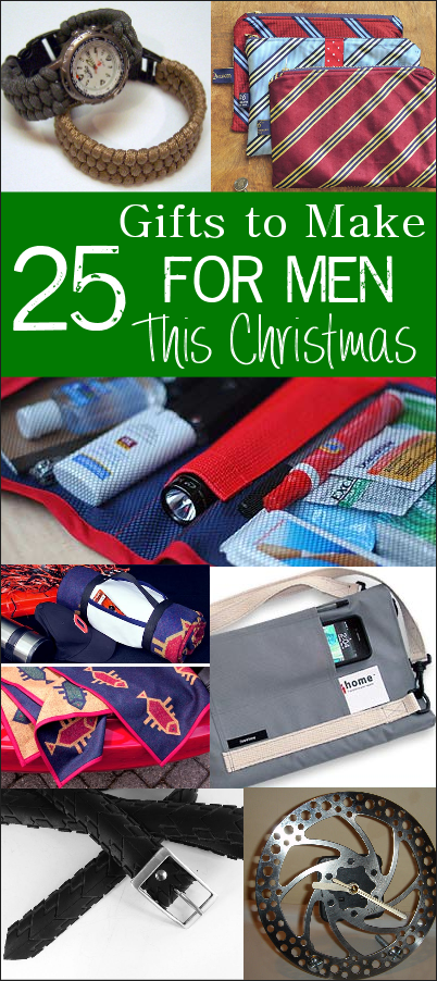 25 Handmade Gifts for Men-These are fun and creative handmade gift ideas for the men in your life for Christmas, Father's Day or other occasions. #gifts #giftideas #handmade