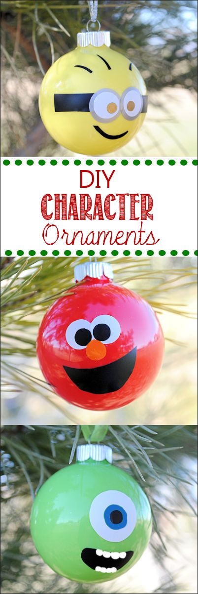 Make Your Own Kids' DIY Christmas Ornaments in any character-Minions, Elmo, Monsters and more-take your pick!