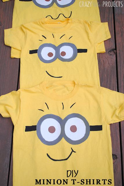 Diy minion shirt for kids paint your own minion shirt for kids great holiday gift idea solutioingenieria Gallery