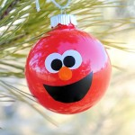 Make Your Own Elmo Ornaments
