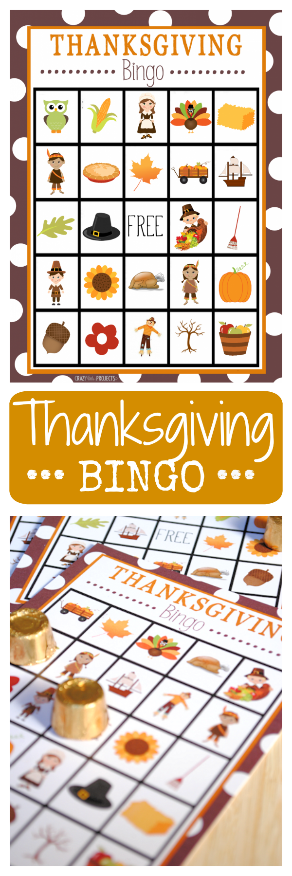 Free Printable Thanksgiving Bingo Game Cards