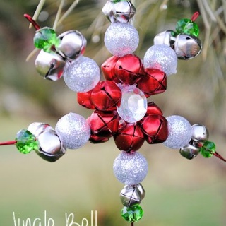 Jingle Bell Snowflake Ornaments