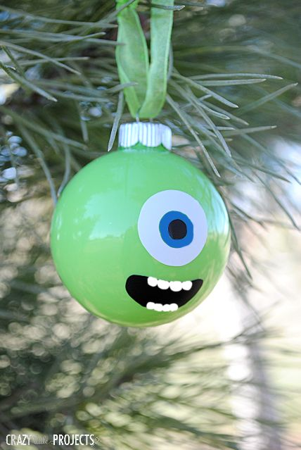 DIY Mike Wazowski Ornament