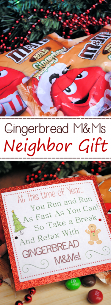 Neighbor Gifts for Christmas with free printable tag
