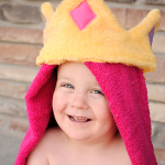 Princess Hooded Towel Tutorial by Crazy Little Projects