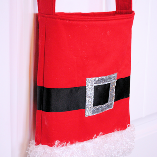 Santa Tote Bag Tutorial