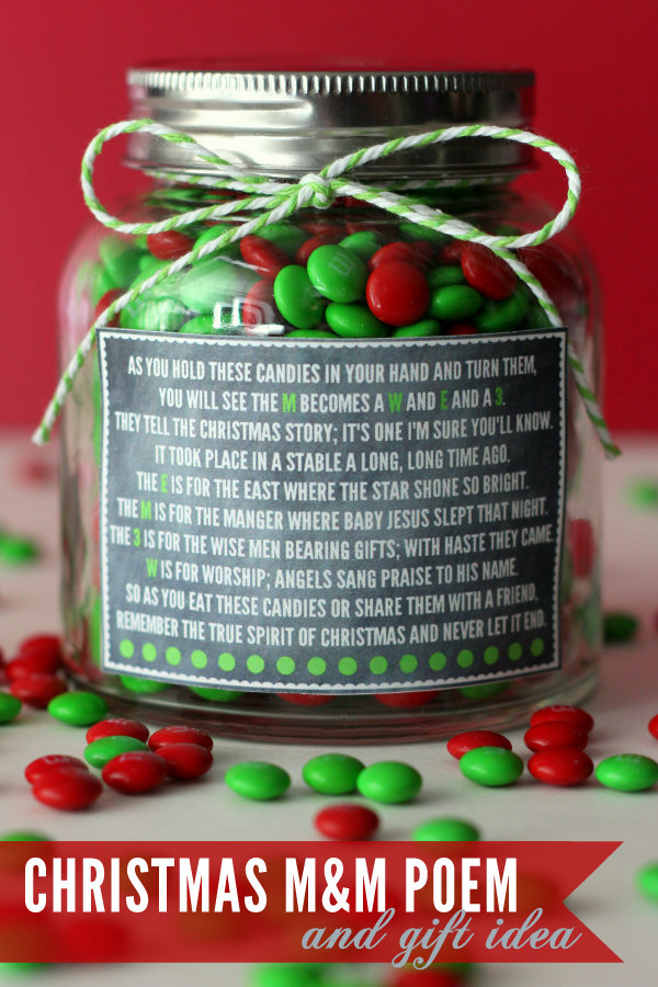 christmas mm poem and gift idea cute and