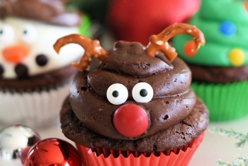 Cute and Easy Reindeer Cupcakes