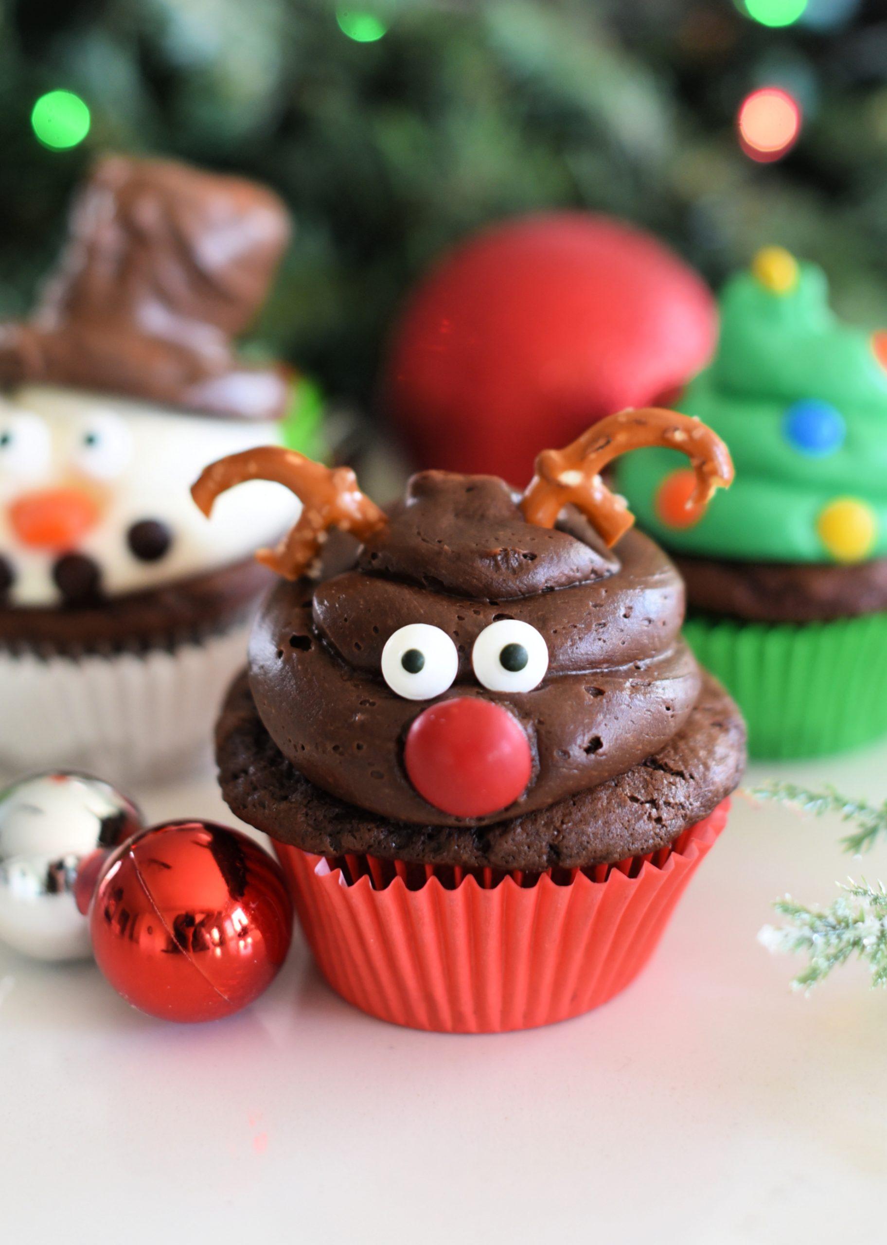 Cute and Easy Reindeer Cupcakes