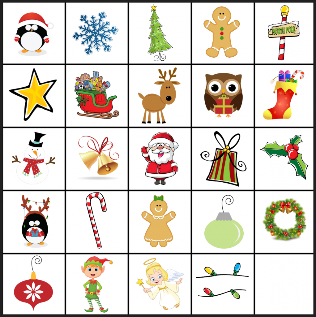Free Printable Christmas Games-Memory Game