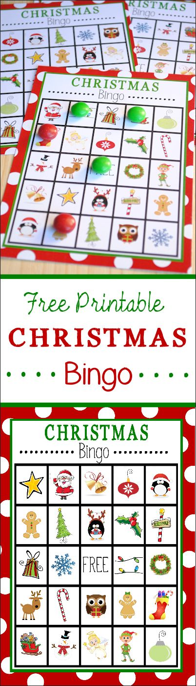 Adaptable image within free printable christmas bingo cards for large groups