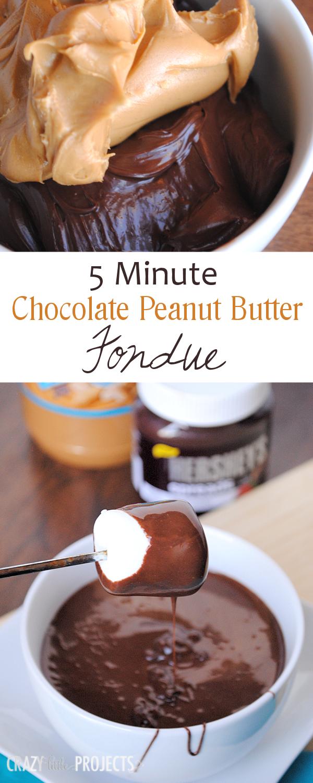 ... Minute Chocolate and Peanut Butter Fondue #SpreadPossibilities