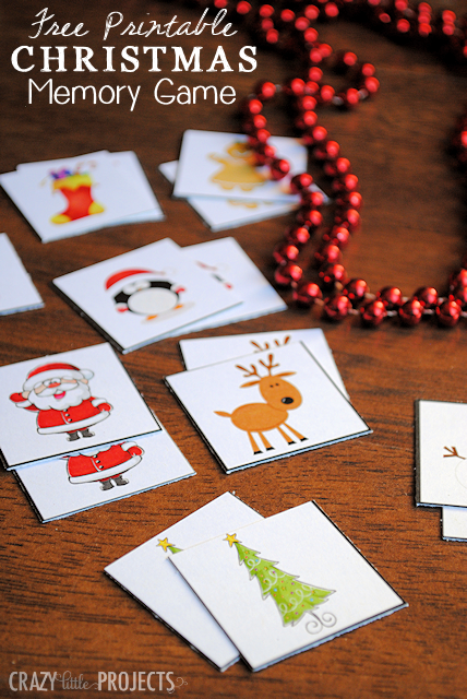 Printable Christmas Games: Matching Game