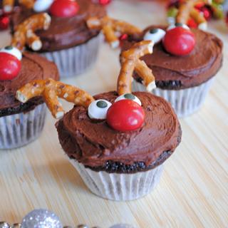 Cute Reindeer Cupcakes